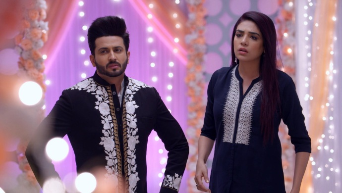 Still from Kundali Bhagya with Karan and Srishti