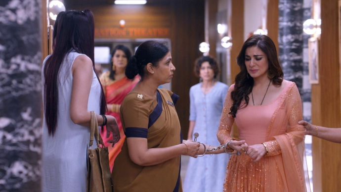 Still from Kundali Bhagya with Preeta getting arrested
